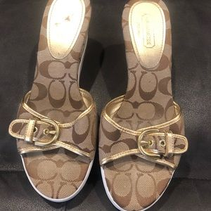 Coach wedges size 8.5
